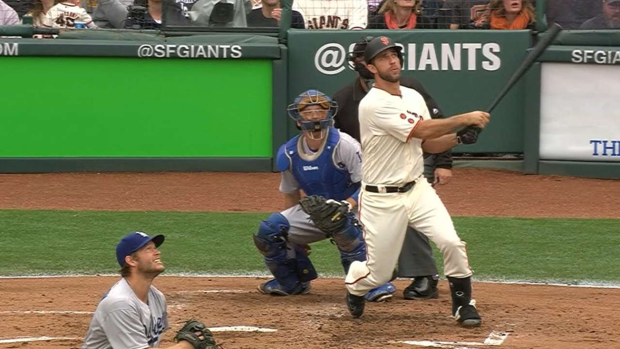 Bumgarner homers off Kershaw for 2nd time