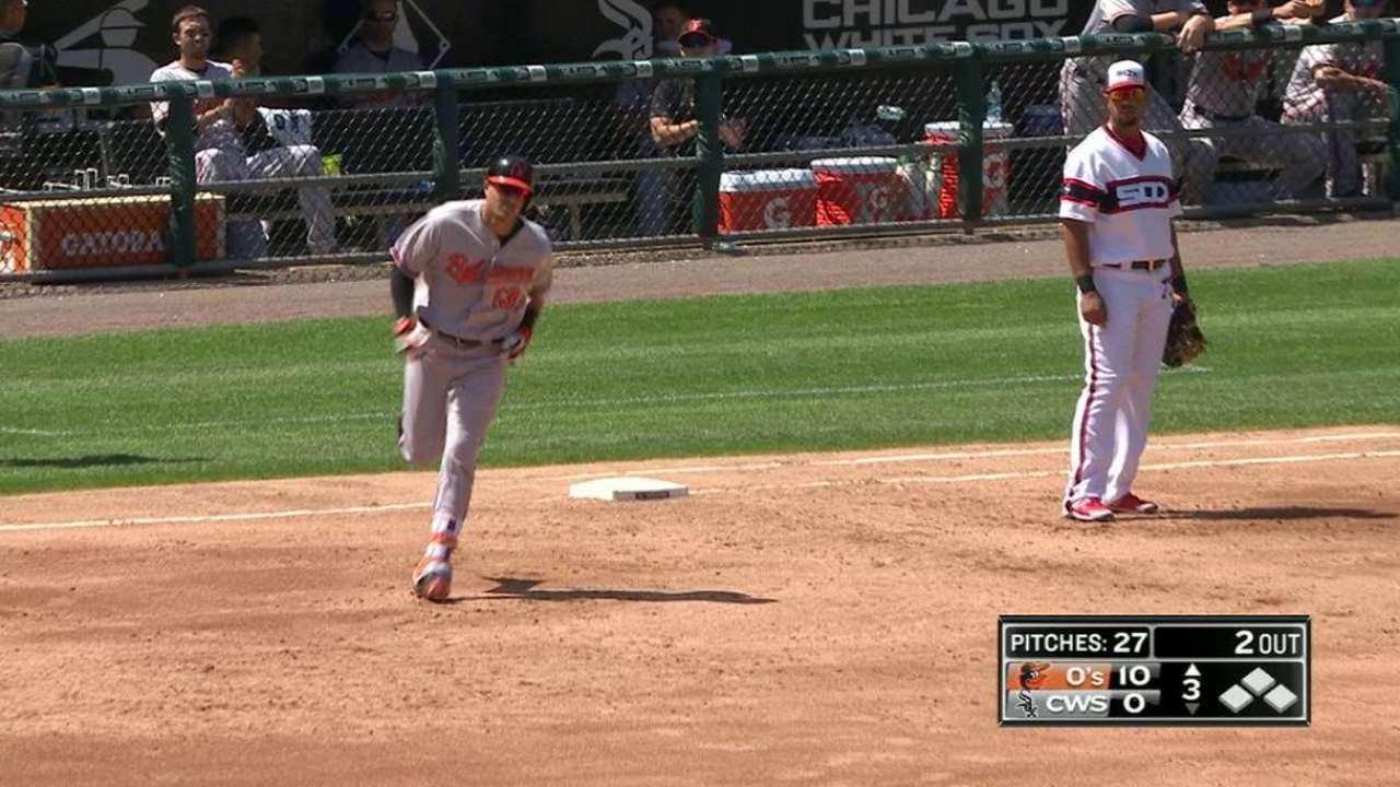 DYK: Machado socks 3 homers vs. White Sox