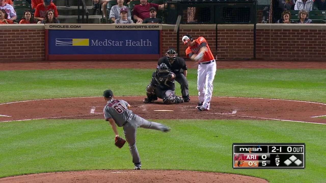 HRs back Miley's gem to put O's into 2nd WC