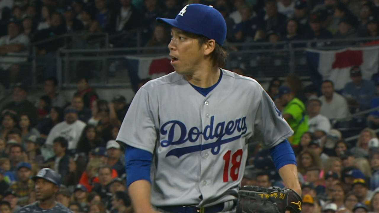 Maeda leads Dodgers to historic beginning