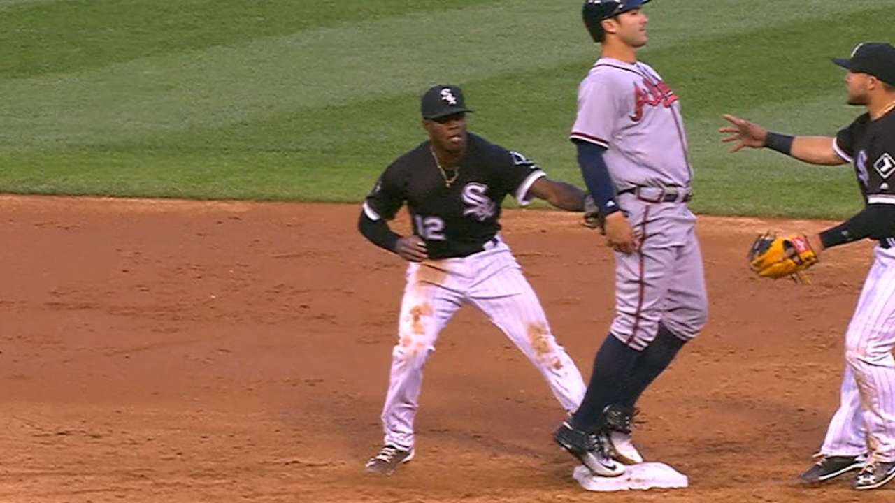 Anderson starts a triple play