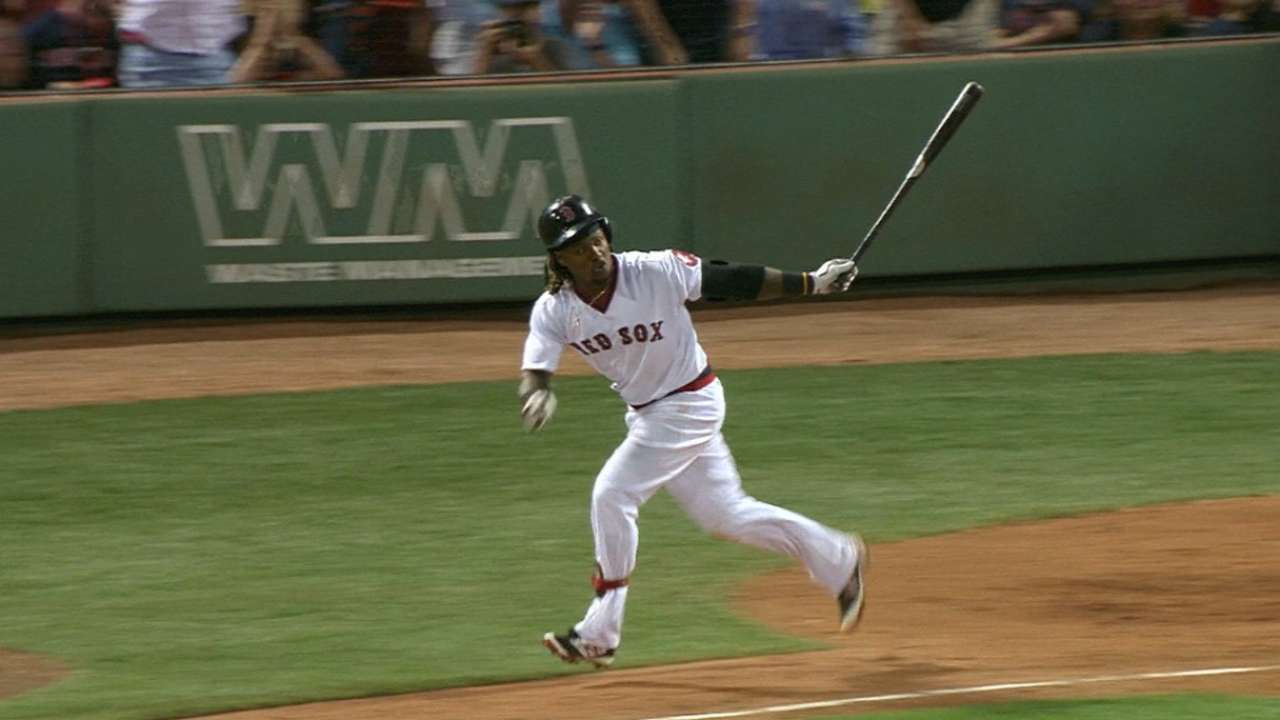 Hanley's hat trick powers Sox atop AL East