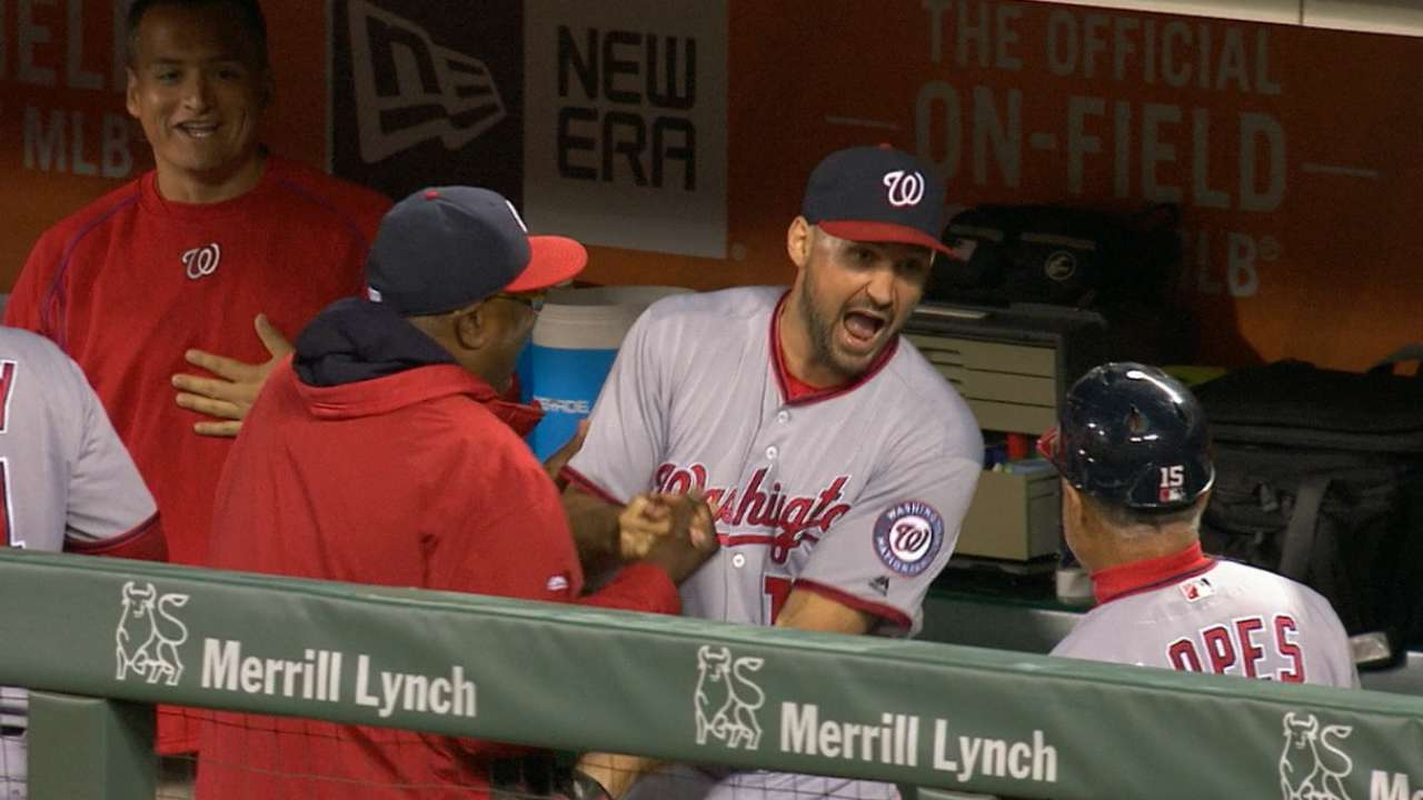 Nats back Max, turn triple play to hold off SF