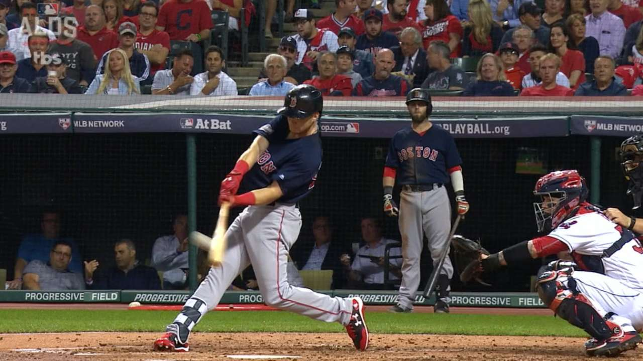 Benintendi homers in first postseason at-bat