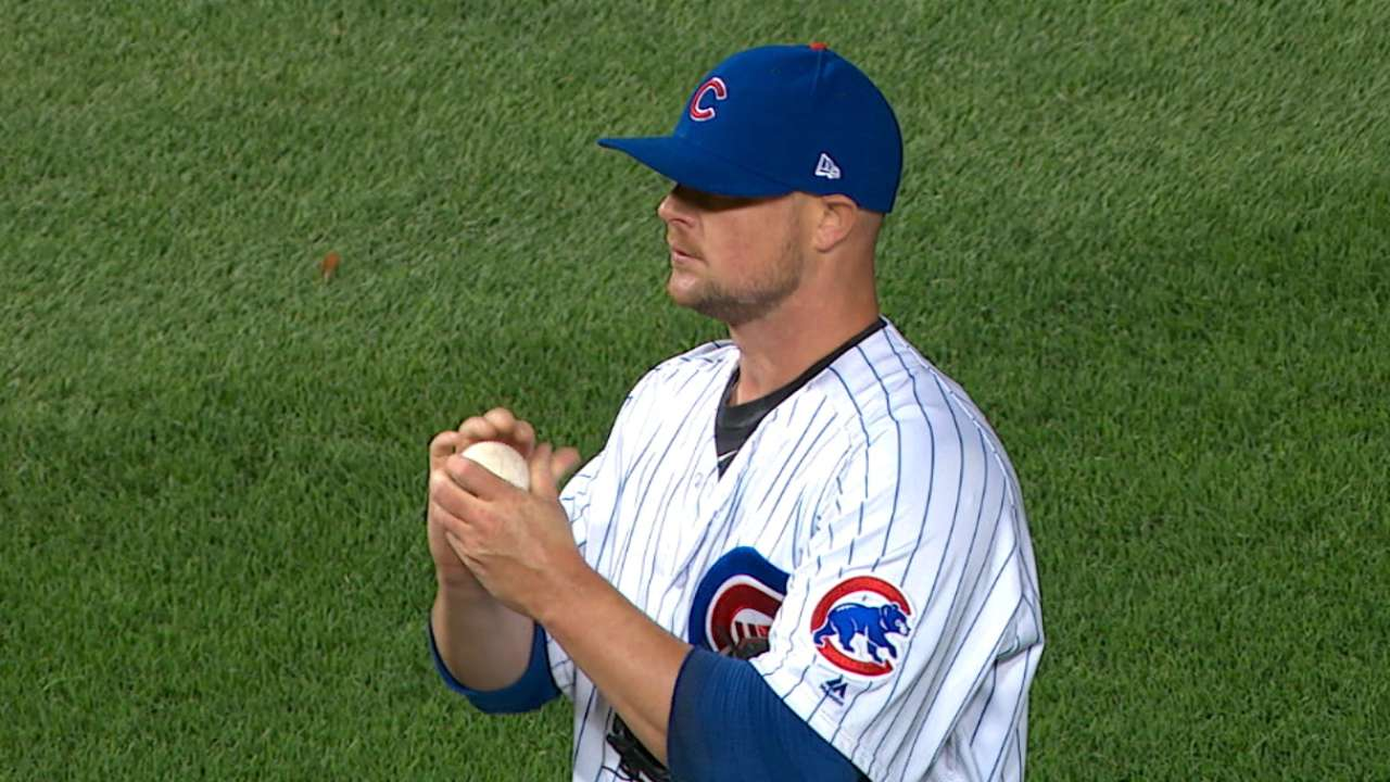 Lester sets tone with scoreless outing