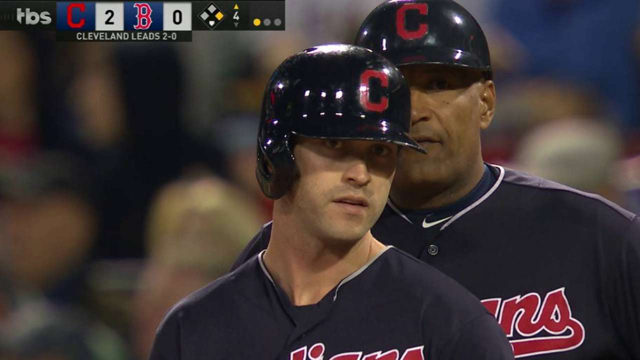 Indians strike first with Naquin's two-run single