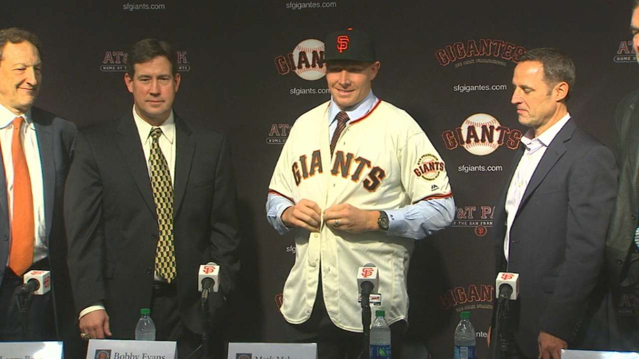 Giants introduce Melancon