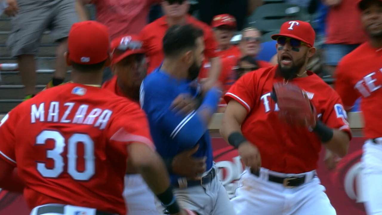 Odor (8 games), Andrus (1 game) suspended