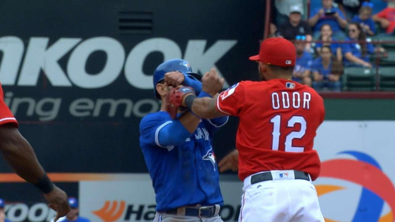 Odor starts serving 7-game suspension; Profar up