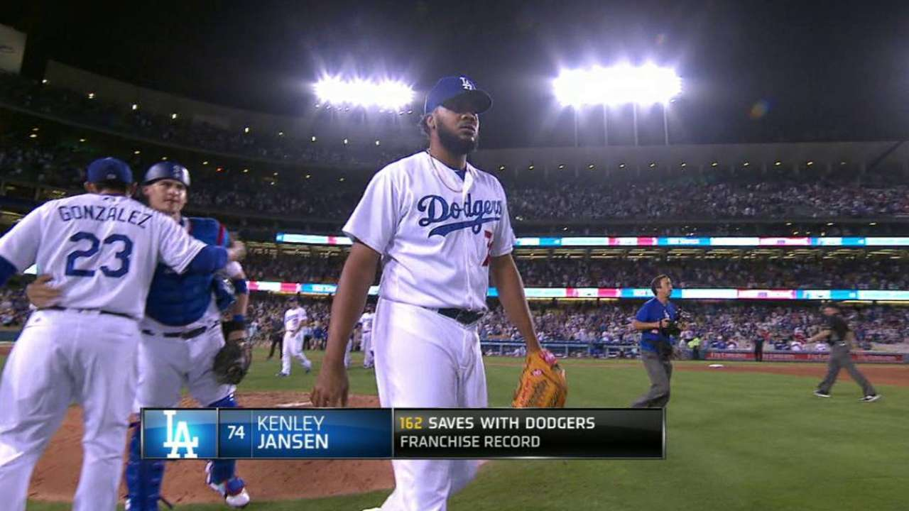 Jansen becomes LA's all-time saves leader