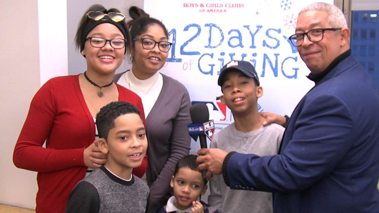 Manfred showers Bronx family with gifts