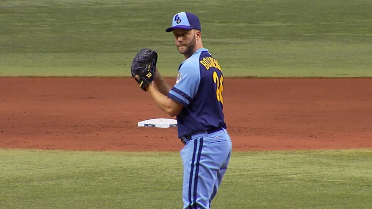 Boxberger targets mid-May return to Rays