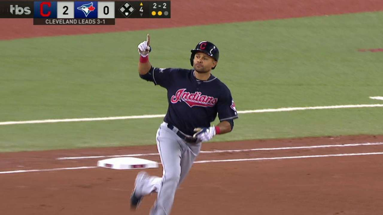 Crisp homers in third straight Tribe clincher