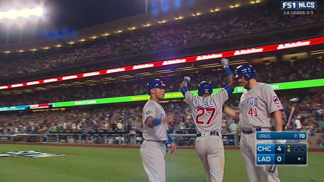 Maddon sticks with struggling Russell at SS