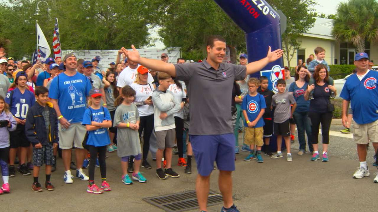 Rizzo hosts family charity walk