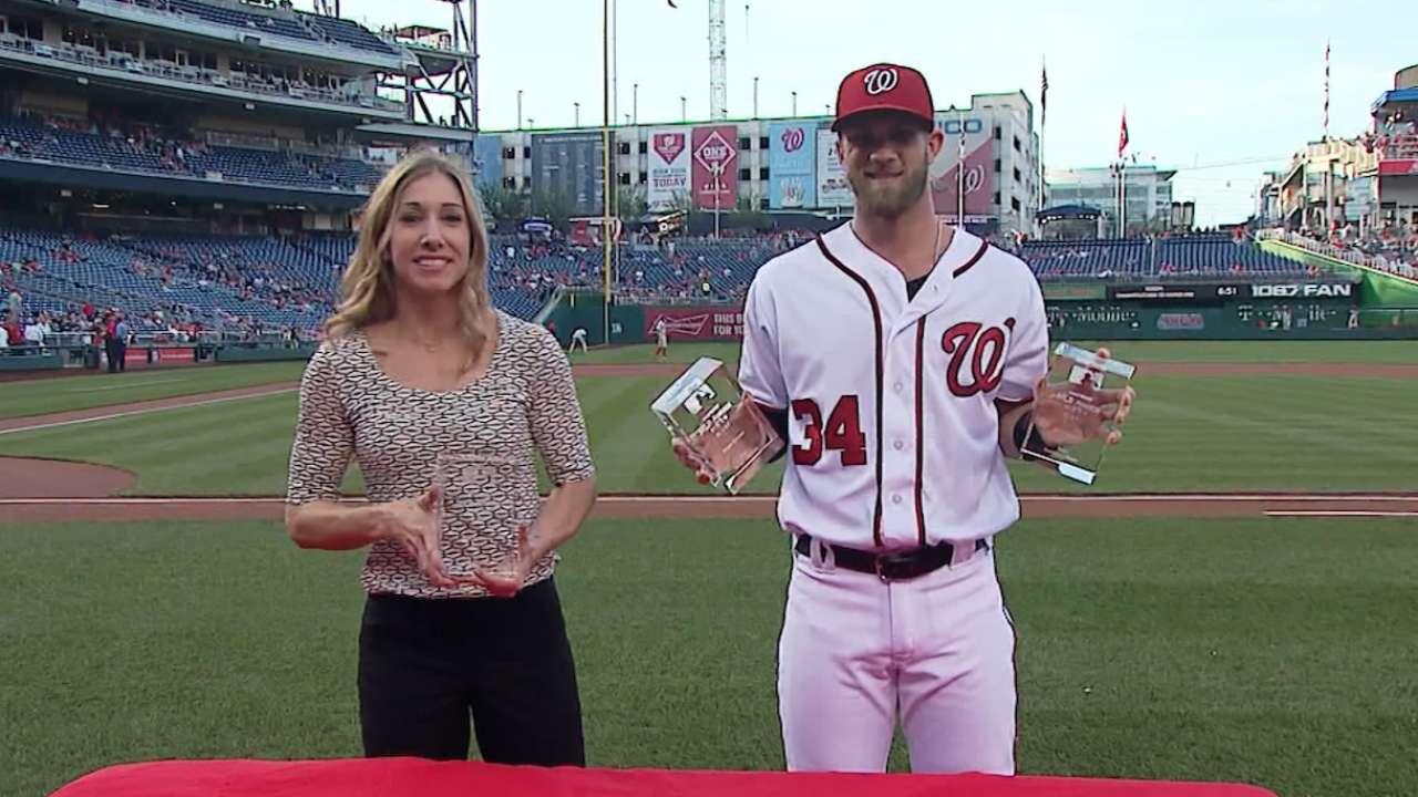 Harper, Scherzer receive 2015 Esurance MLB Awards