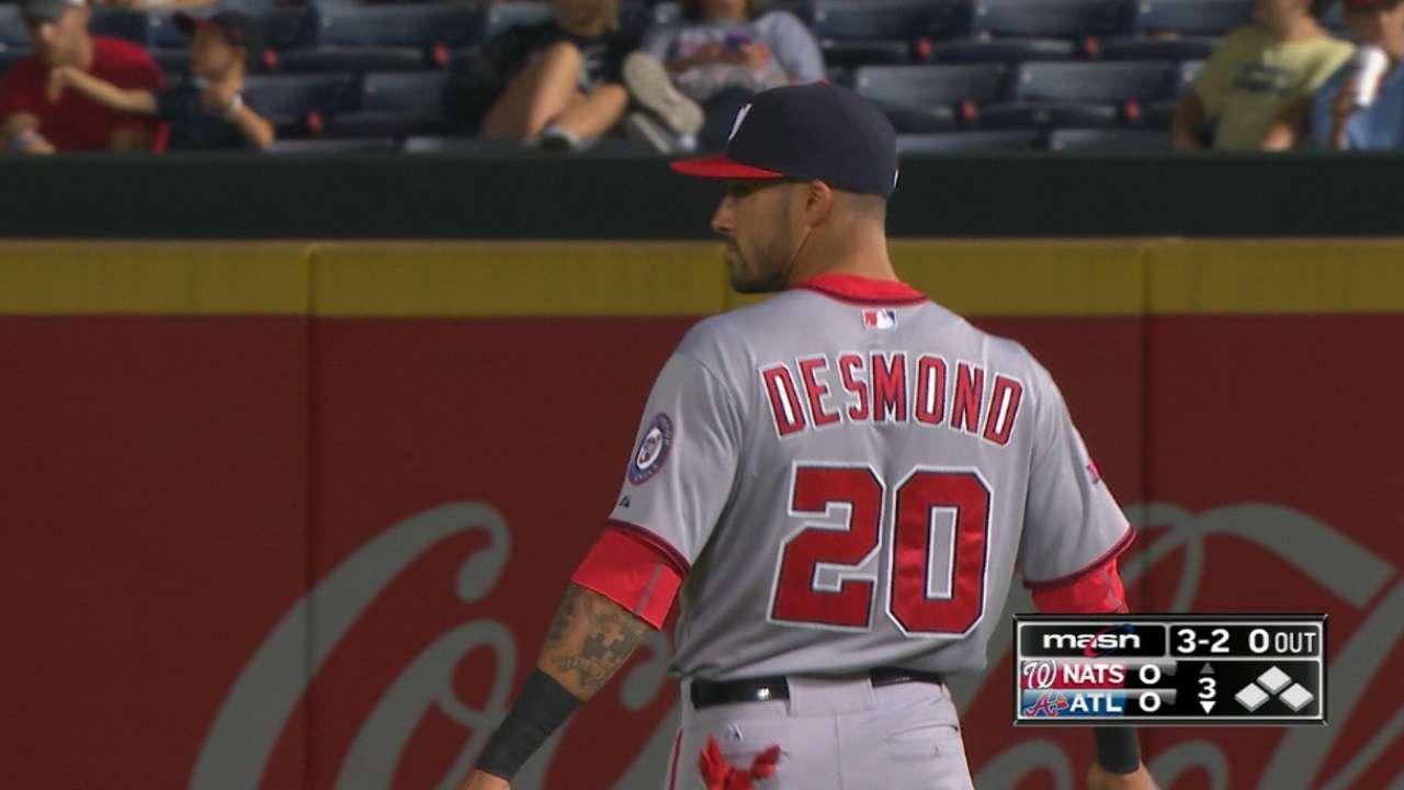 Desmond on playing first base