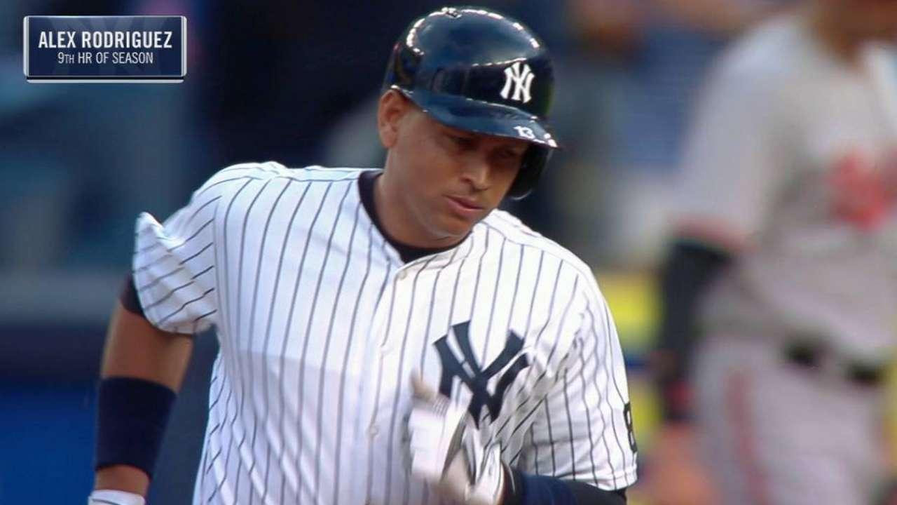 A-Rod llega a 696 jonrones y los Yankees vencen a Baltimore