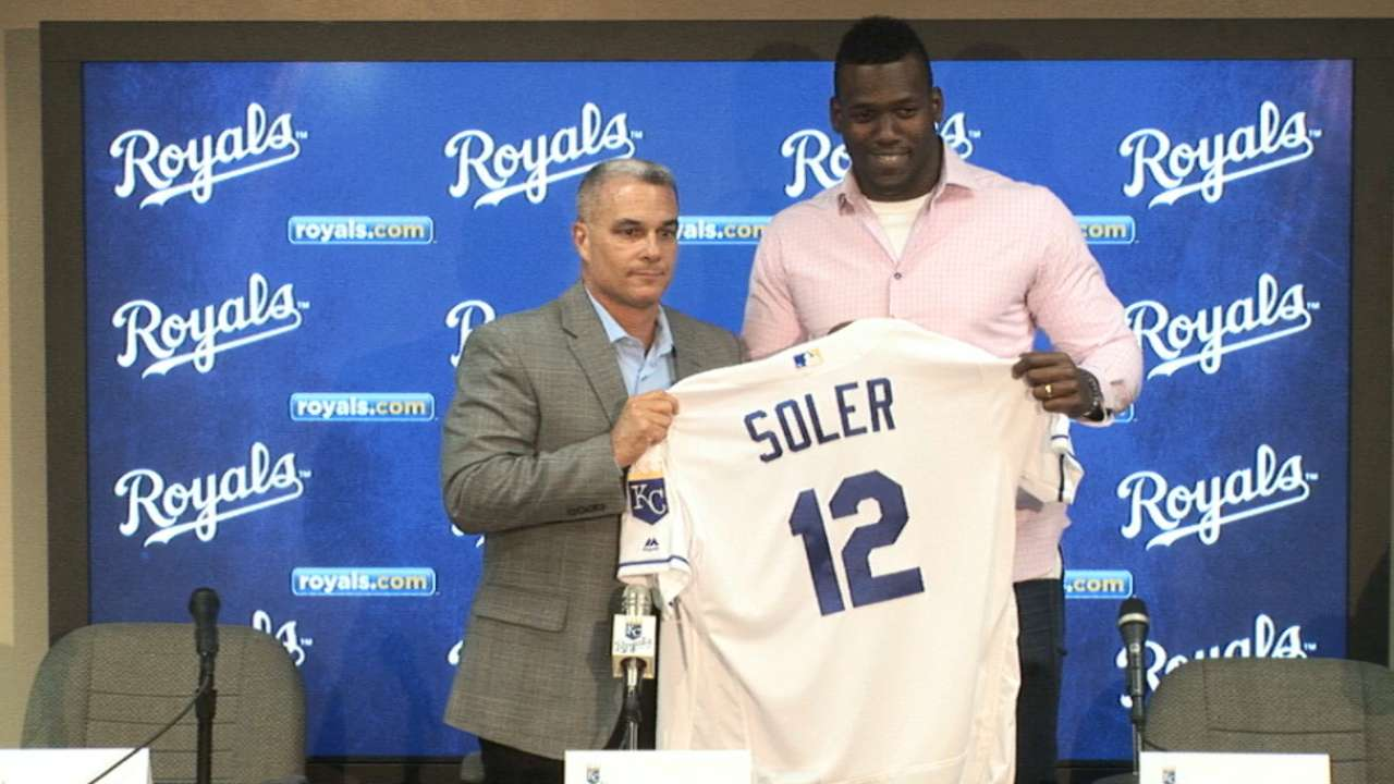 Moore on bringing Soler to KC