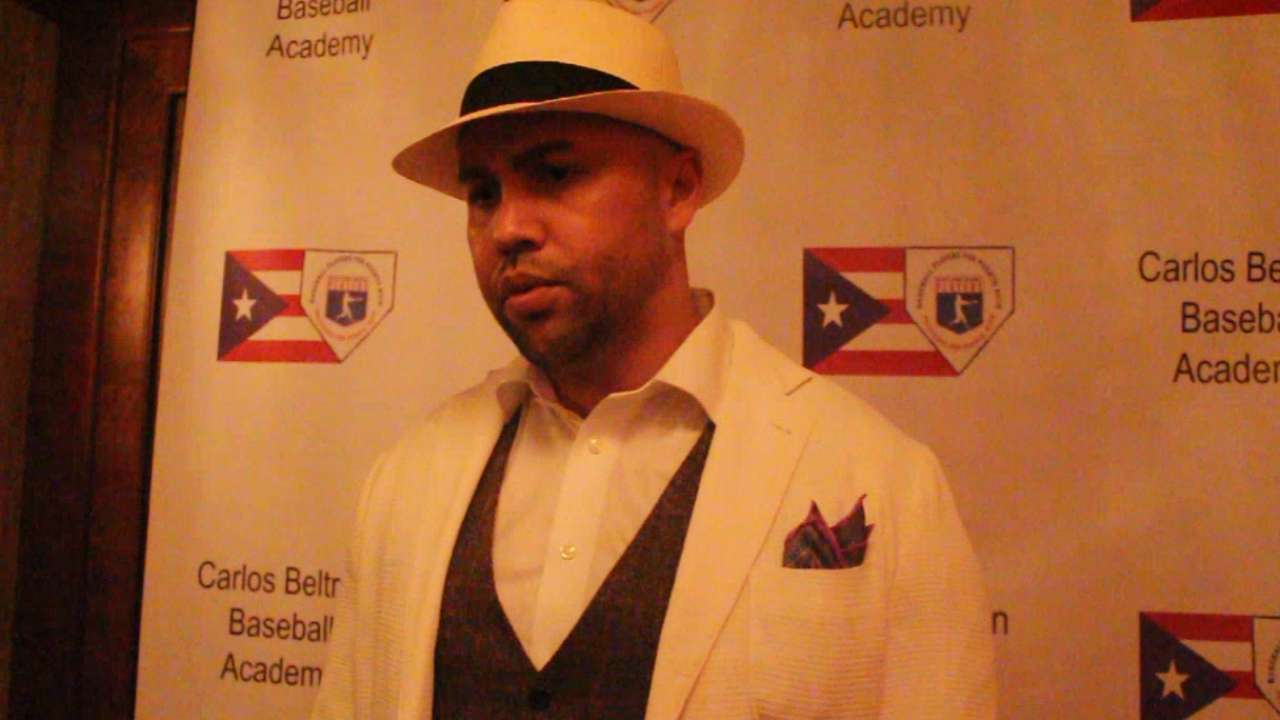 Beltran on his baseball academy