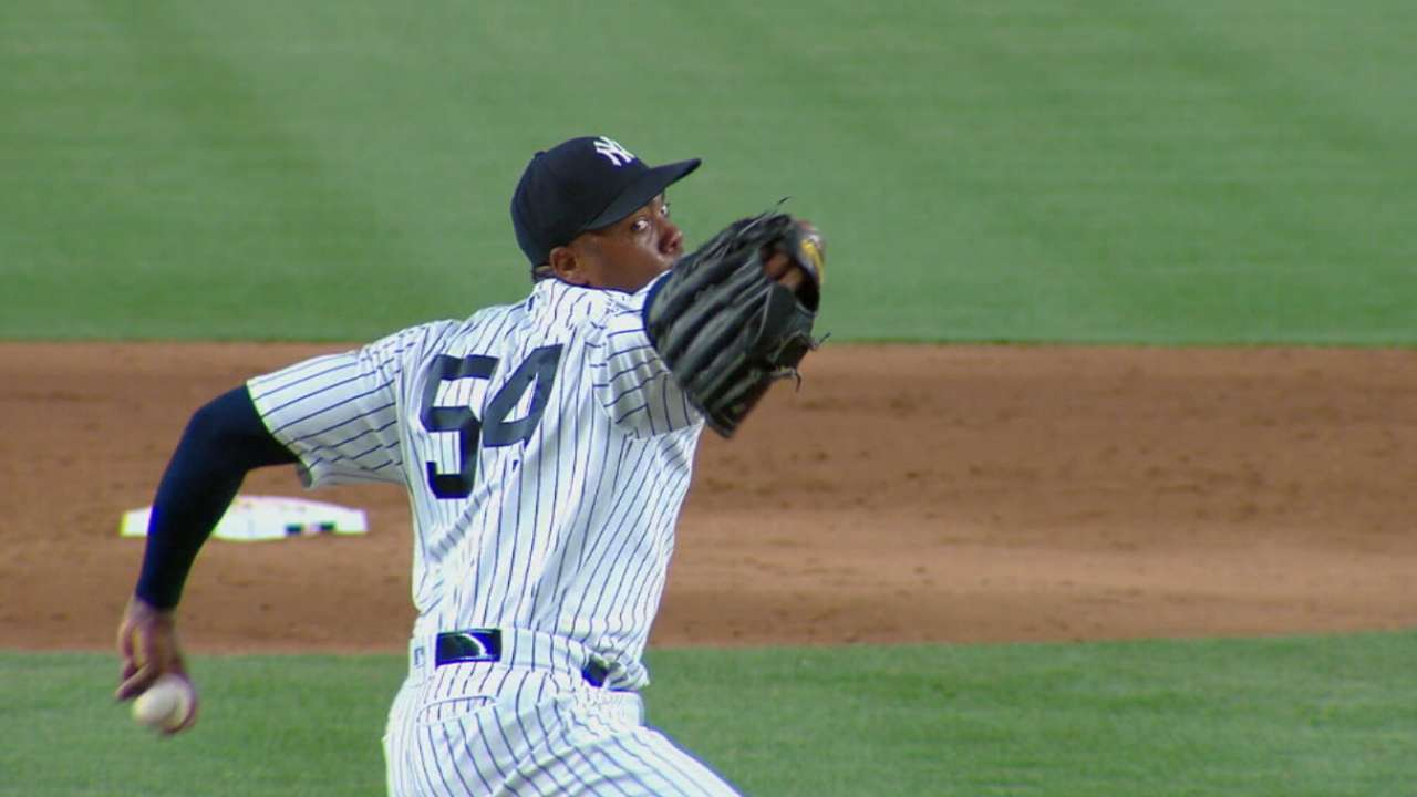 Chapman on returning to Yankees
