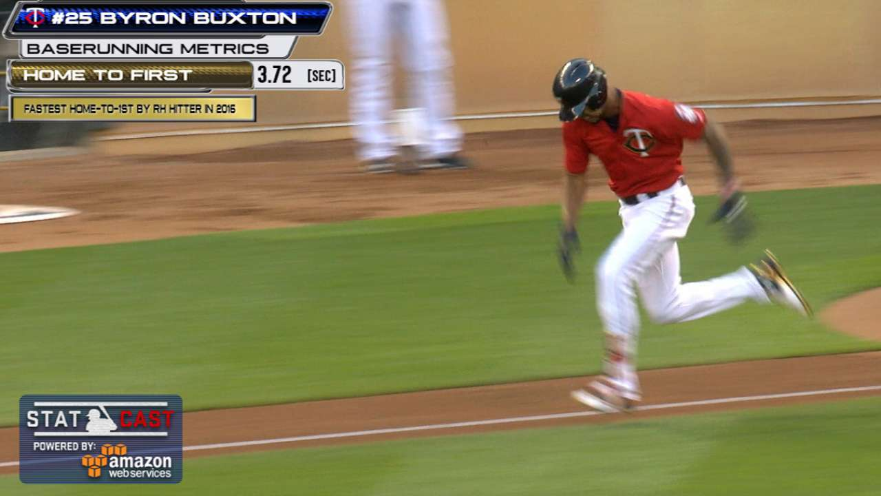 Statcast: Buxton flashes speed