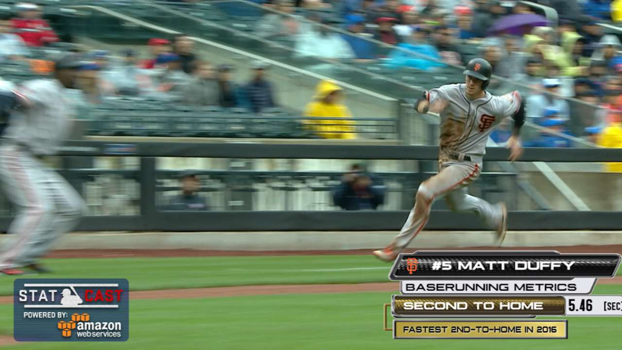 Statcast: Duffy races home from second