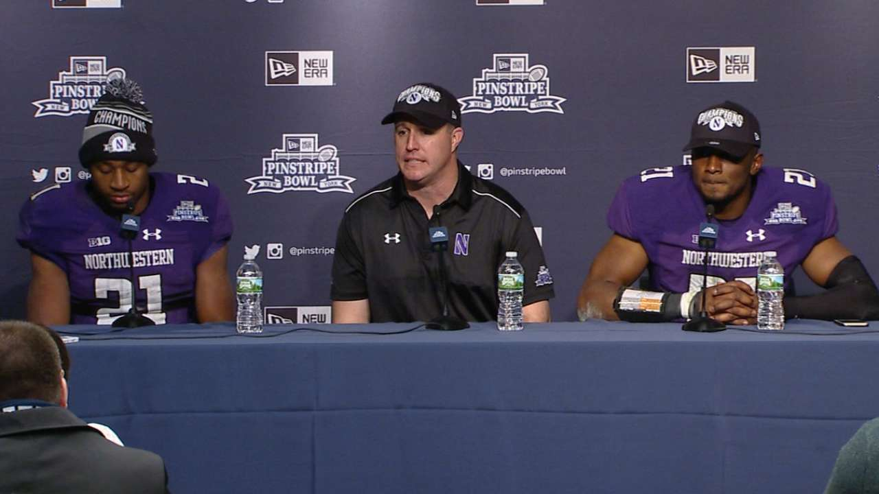 Northwestern rallies for win in Pinstripe Bowl