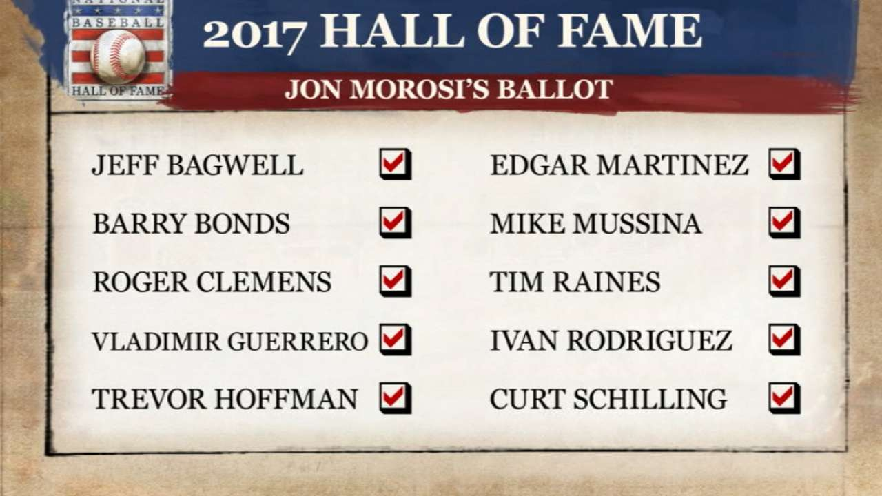 It's not easy filling out a HOF ballot