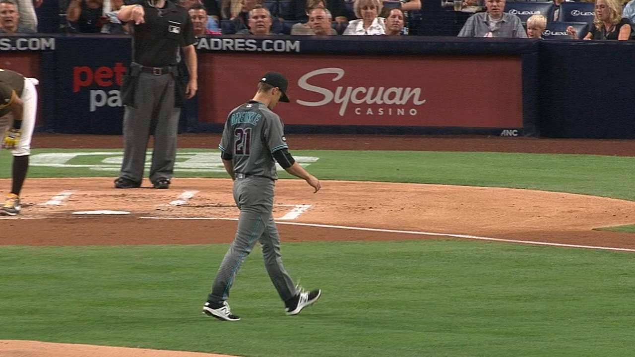 Greinke holds Padres to two runs