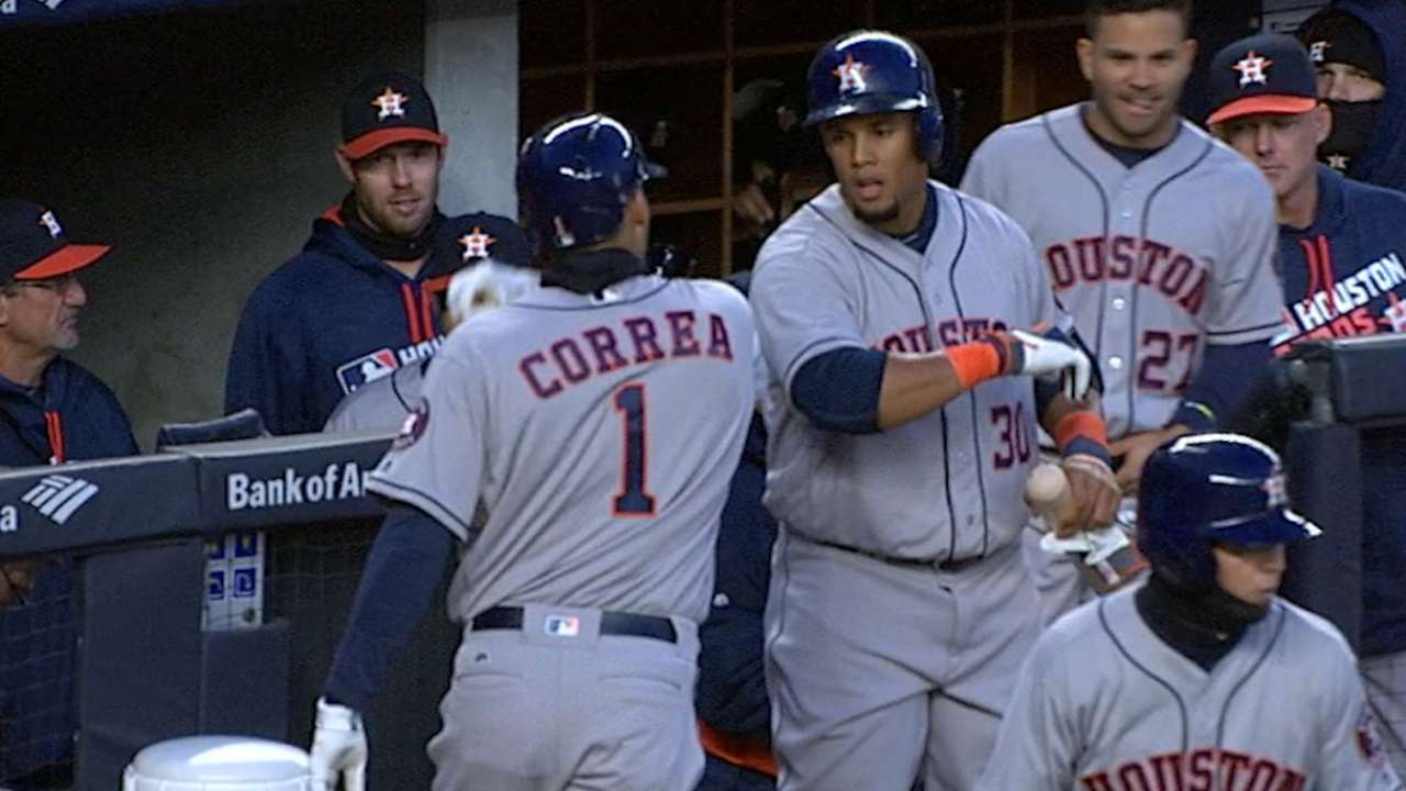 Correa's mammoth blast part of two-HR night