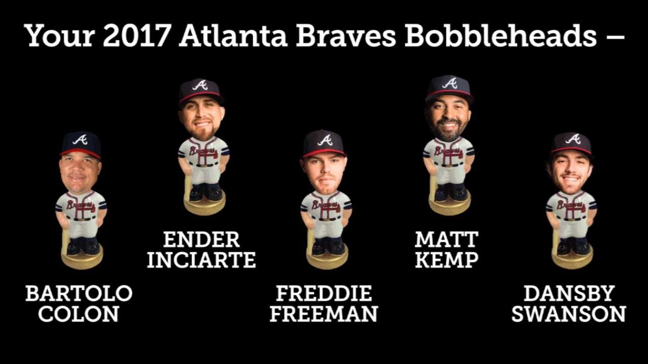 Braves announce 2017 bobblehead lineup | MLB.com