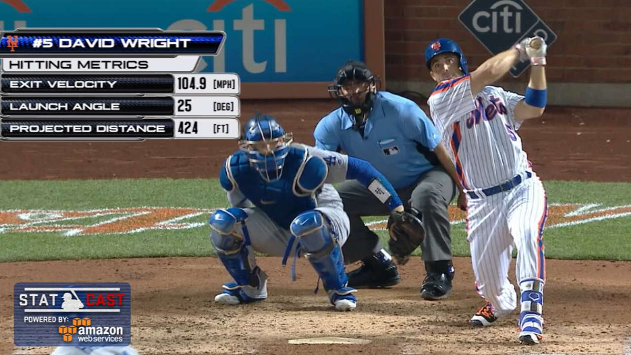 Statcast: Wright's 424-ft. HR