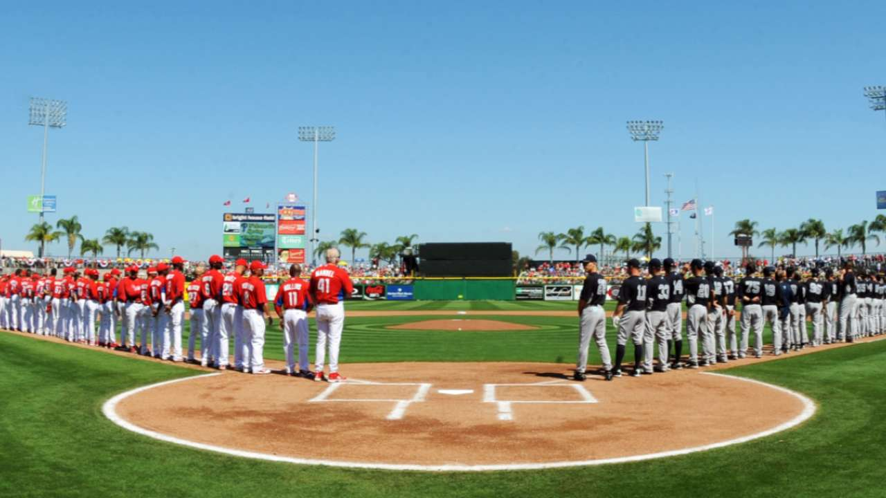 MLB announces 2017 Spring Training schedule