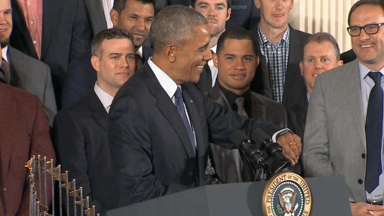 Former Cubs delight in White House festivities