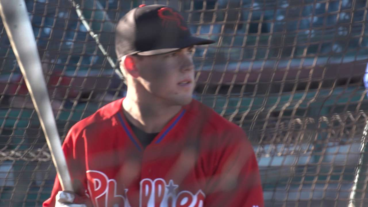 Phils' Kingery appreciates road to big league camp
