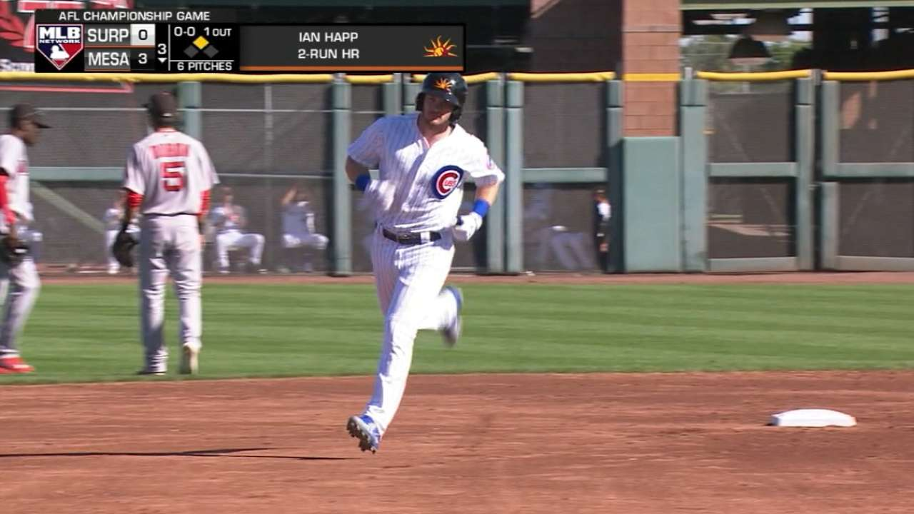 Happ, Candelario go deep for Iowa in second straight game