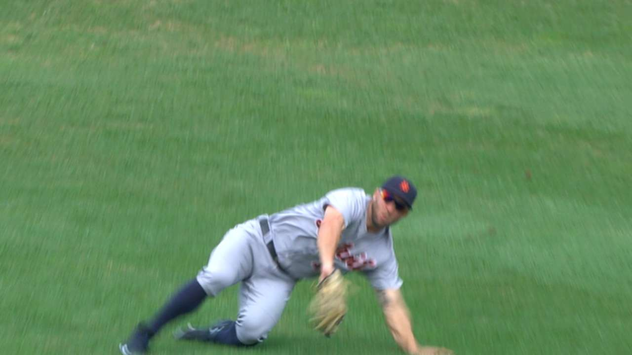 Mahtook ready to compete for Tigers' CF job