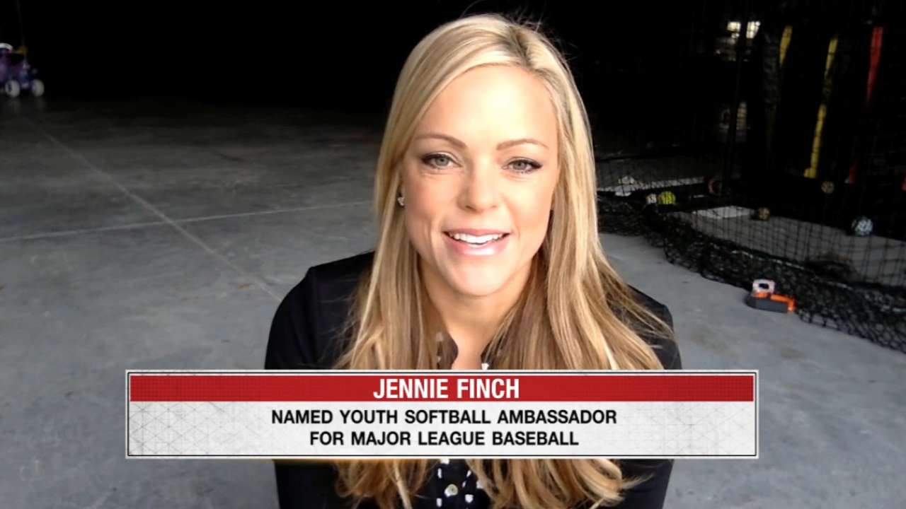 Jennie Finch joins Hot Stove