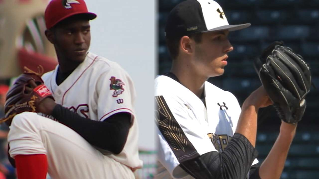 Top 100 prospects with the best pitching arsenals