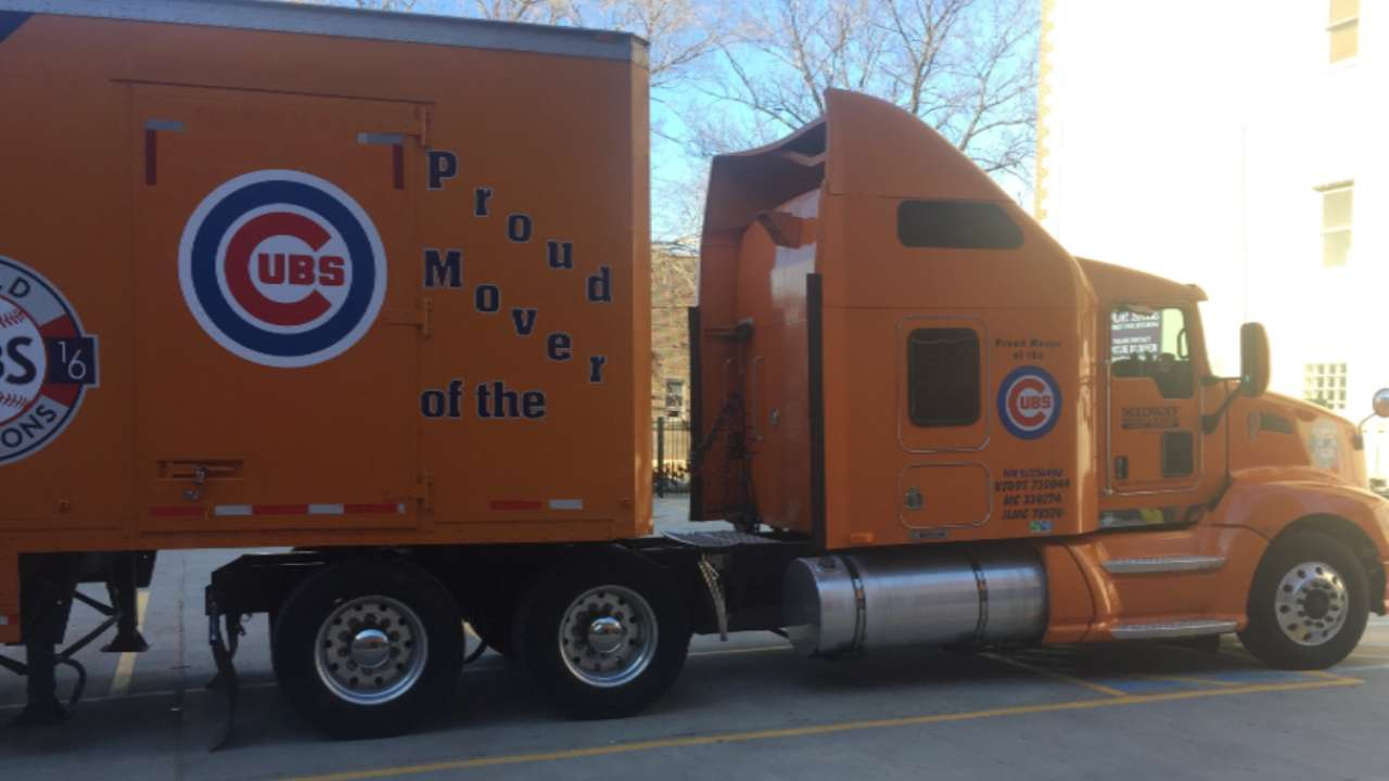 Truck packed, Cubs prepare to defend WS title