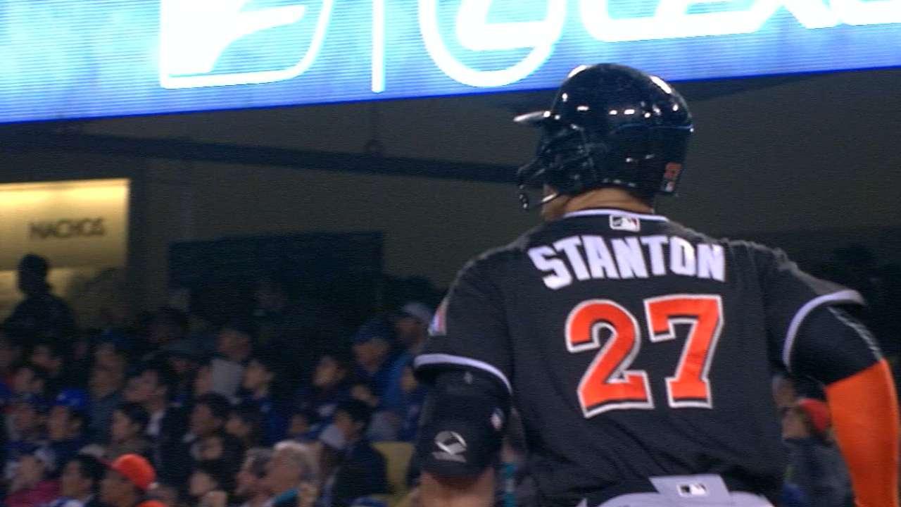 Stanton's bat, health keys for Marlins' success