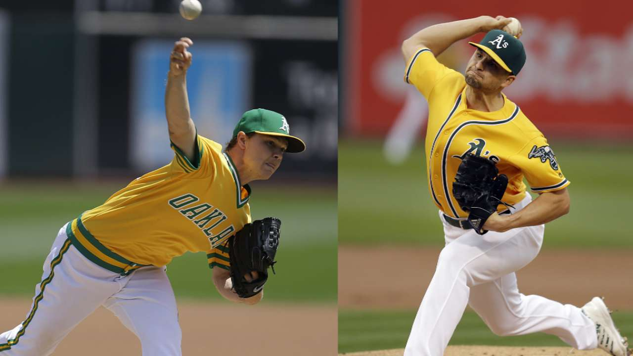 Young starters' growth key to A's in 2017