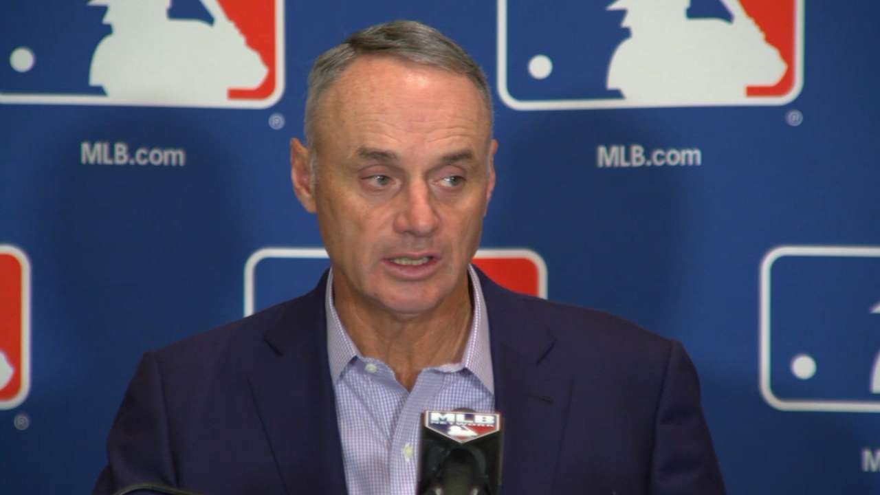 Manfred talks pace of play