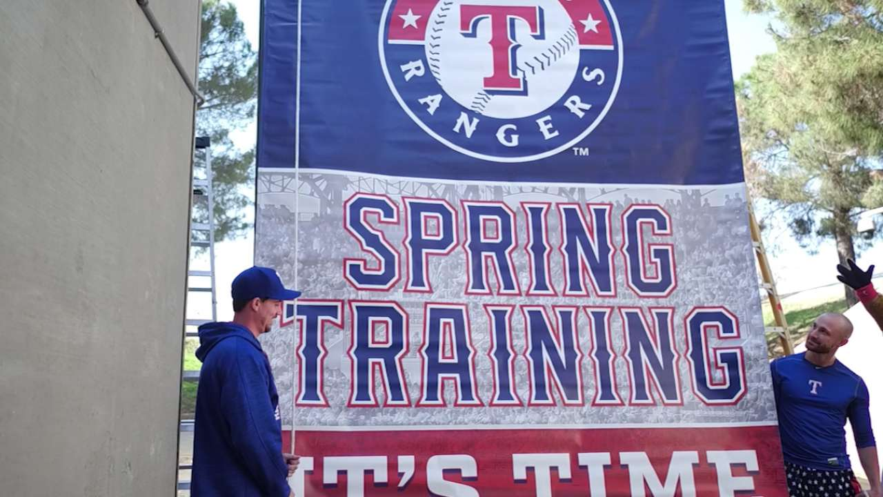 Spring is near: Rangers' truck heads to Arizona