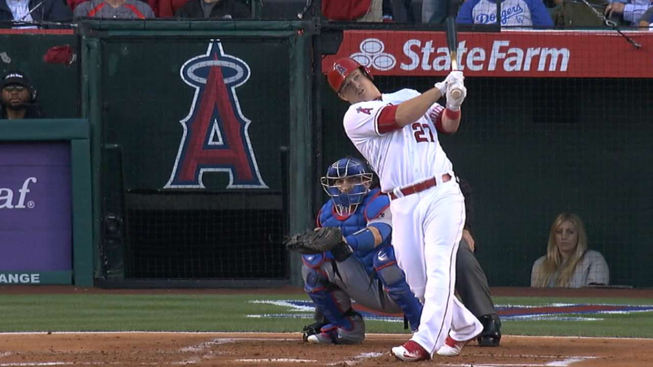 Trout entering his prime on improved Angels