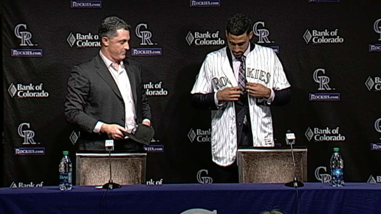 New faces shake up Rockies' jersey numbers