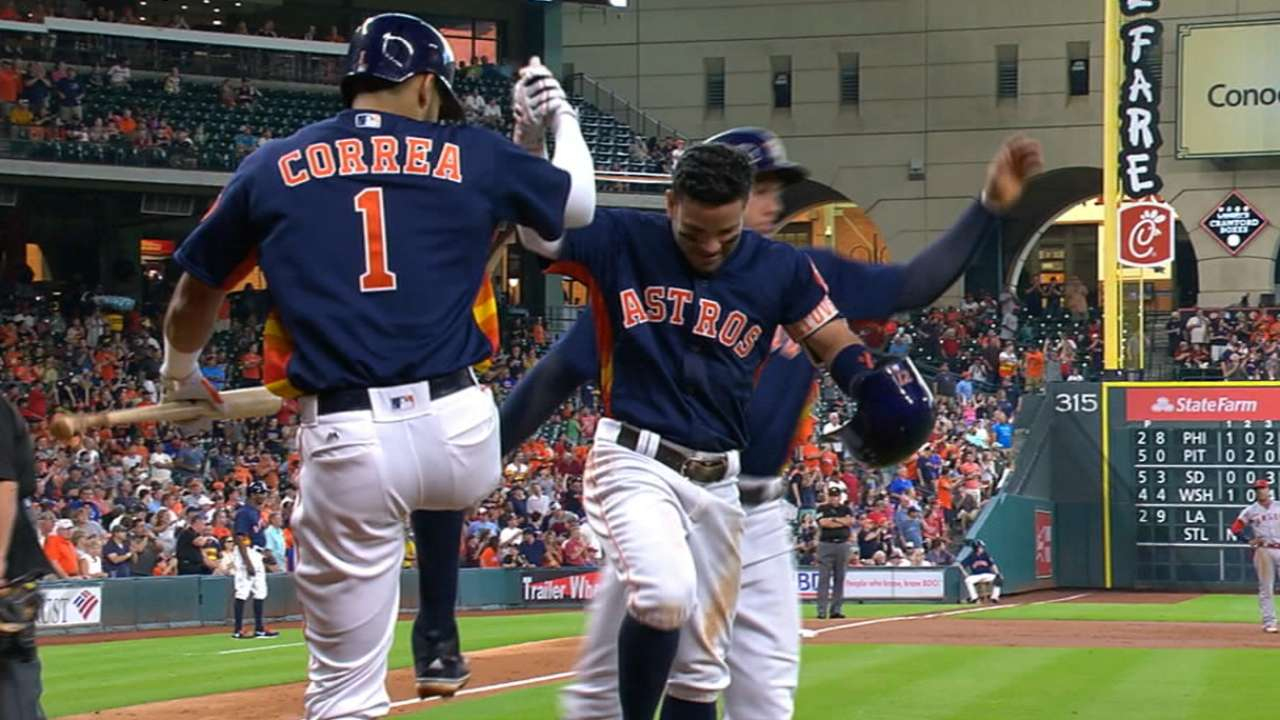 Deep lineup key to Astros' perfect season