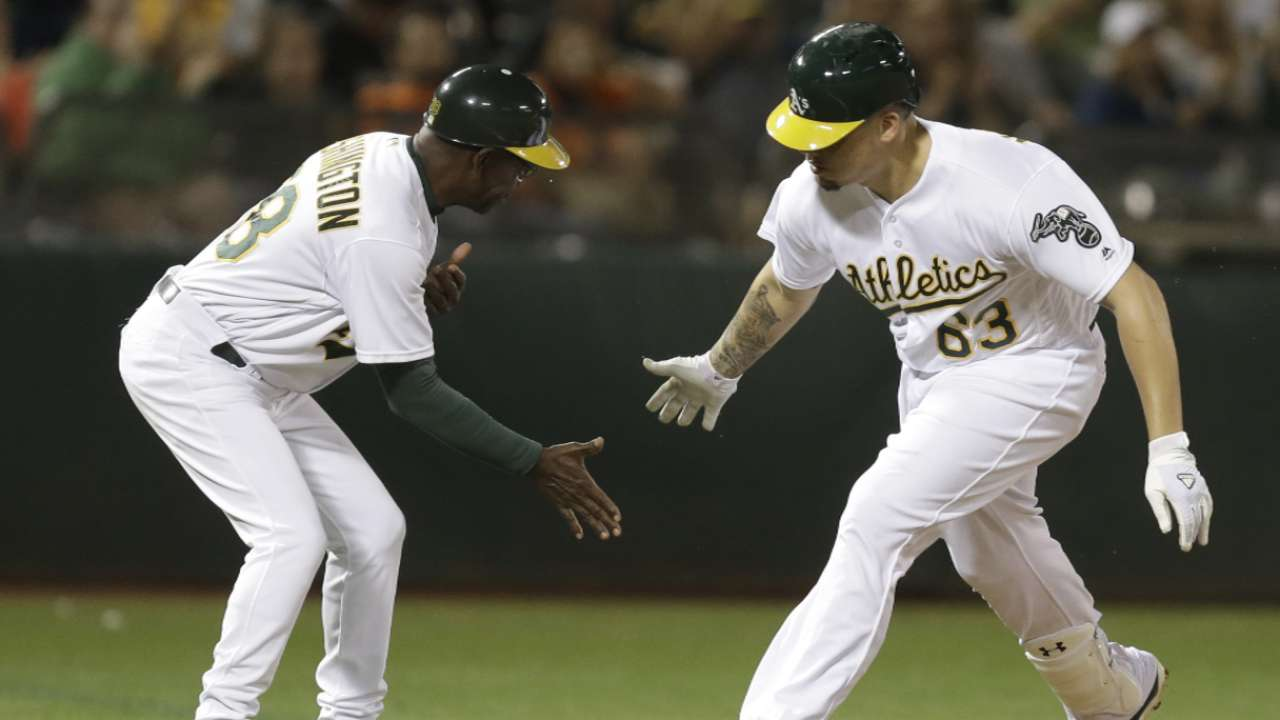A's keeping steady approach