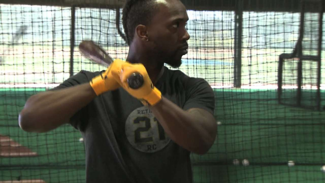 Huntington on Cutch's move to RF